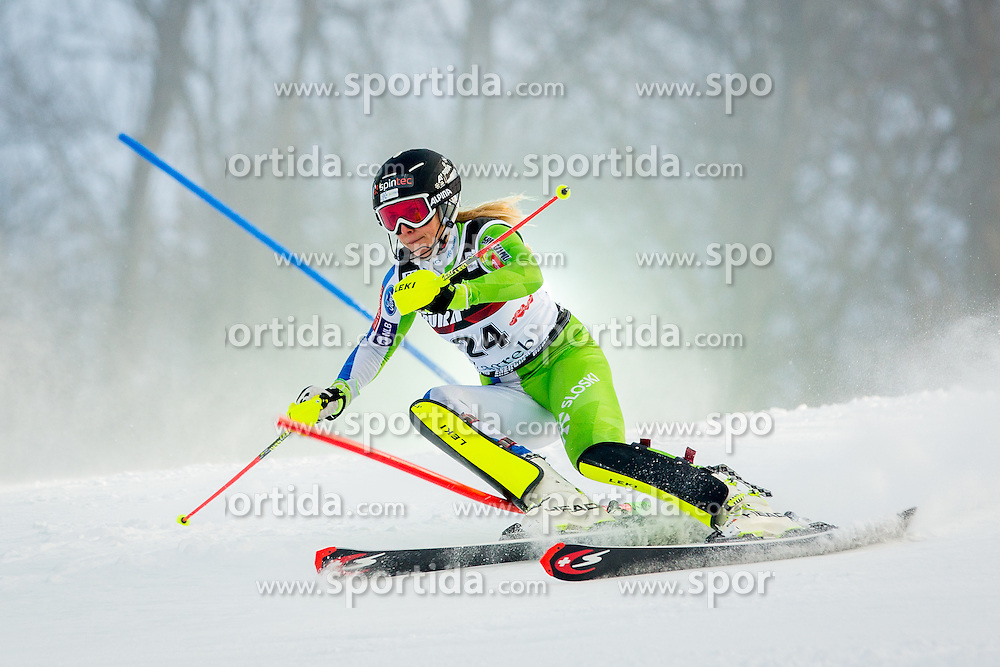 "Ana Bucik (SLO) during FIS Alpine Ski World Cup 2016/17 Ladies Slalom race named ""Snow Queen Trophy 2017"", on January 3, 2017 in Course Crveni Spust at Sljeme hill, Zagreb, Croatia. Photo by Žiga Zupan / Sportida"