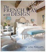 Coffe table book project with Betty Lou Phillips. This cover features the work of Nicole Zarr who owns Triangle Interiors in Houston Texas. It is an amazingly beautiful bedroom