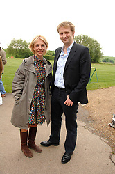 SAHAR HASHEMI and the MARQUESS OF HARTINGTON at a charity shoot in aid of the charity Save The Rhino held at the West London Shooting School, Northolt, Middlesex on 30th May 2008.<br />