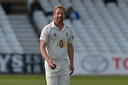 Paul Collingwood enjoying a bowling spell during the Specsavers County Champ Div 1 match between Nottinghamshire County Cricket Club and Durham County Cricket Club at Trent Bridge, West Bridgford, United Kingdom on 28 May 2016. Photo by Simon Trafford.