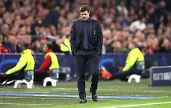 Tottenham Hotspur manager Mauricio Pochettino appears dejected during the UEFA Champions League Semi Final, second leg match at Johan Cruijff ArenA, Amsterdam.