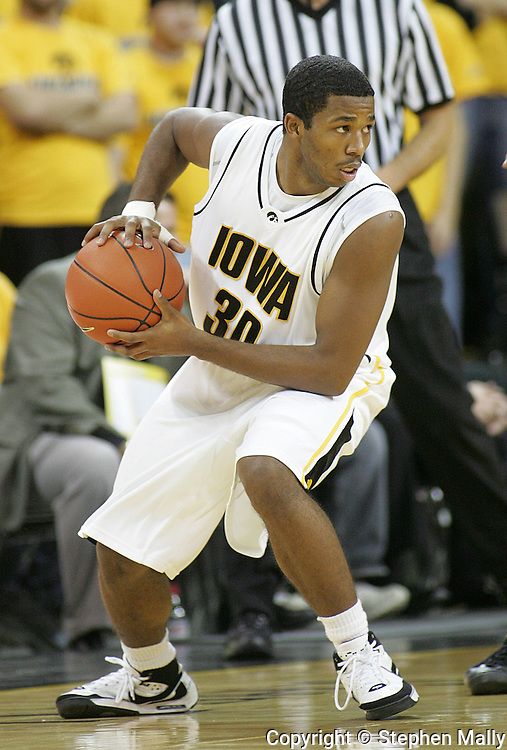 26 NOVEMBER 2007: Iowa guard Jeff Peterson (30) in Wake Forest's 56-47 win over Iowa at Carver-Hawkeye Arena in Iowa City, Iowa on November 26, 2007.