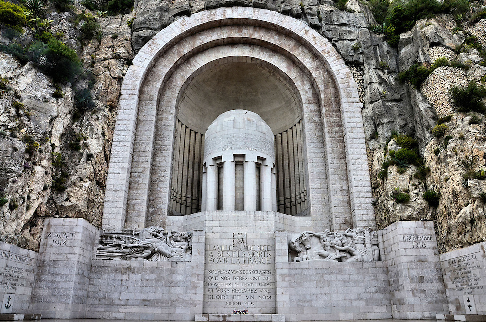 Monument aux Morts War Memorial in Nice, France <br />
