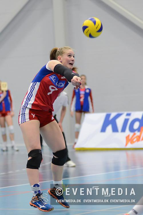 CEV U19 Volleyball European Championship 2nd round qualifying pool play match between Denmark and Czech Republic in Brøndby, Denmark, 31.3.2016. (Søren T. Larsen/EVENTMEDIA).