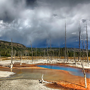 Opalescent Pool has long been a favorite for photographers visiting Yellowstone National Park. Its color is amazing and changes with the weather and light.