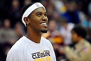 Oct. 30, 2010; Cleveland, OH, USA; Cleveland Cavaliers point guard Daniel Gibson (1) prior to the game between the Cleveland Cavaliers and the Sacramento Kings at Quicken Loans Arena. Mandatory Credit: Jason Miller-US PRESSWIRE