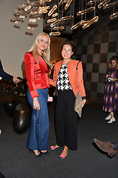 MAGDALENA GABRIEL and SHAZ MOAVEN at the PAD London 10th Anniversary Collector's Preview, Berkeley Square, London on 3rd October 2016.