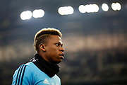 Olympique de Marseille's Cameroonese forward Clinton Njie reacts during the French Championship Ligue 1 football match between Olympique de Marseille and AS Monaco on January 28, 2018 at the Orange Velodrome stadium in Marseille, France - Photo Benjamin Cremel / ProSportsImages / DPPI