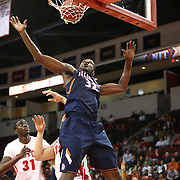 Nnanna Egwu #32 of the Illinois Fighting Illini looks for a rebound during the NIT First Round game at Agganis Arena on March 19, 2014 in Boston, Massachusetts . (Photo by Elan Kawesch)