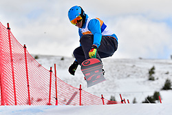 Coaches' Race, Banked Slalom at the WPSB_2019 Para Snowboard World Cup, La Molina, Spain