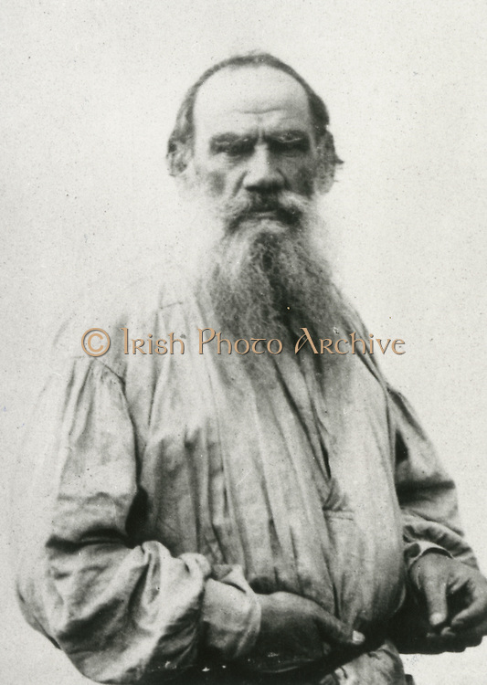 'Leo Nikolayevich Tolstoy (1828-1910) in 1873, Russian writer of novels and short stories and, in later life, of plays and essays.'