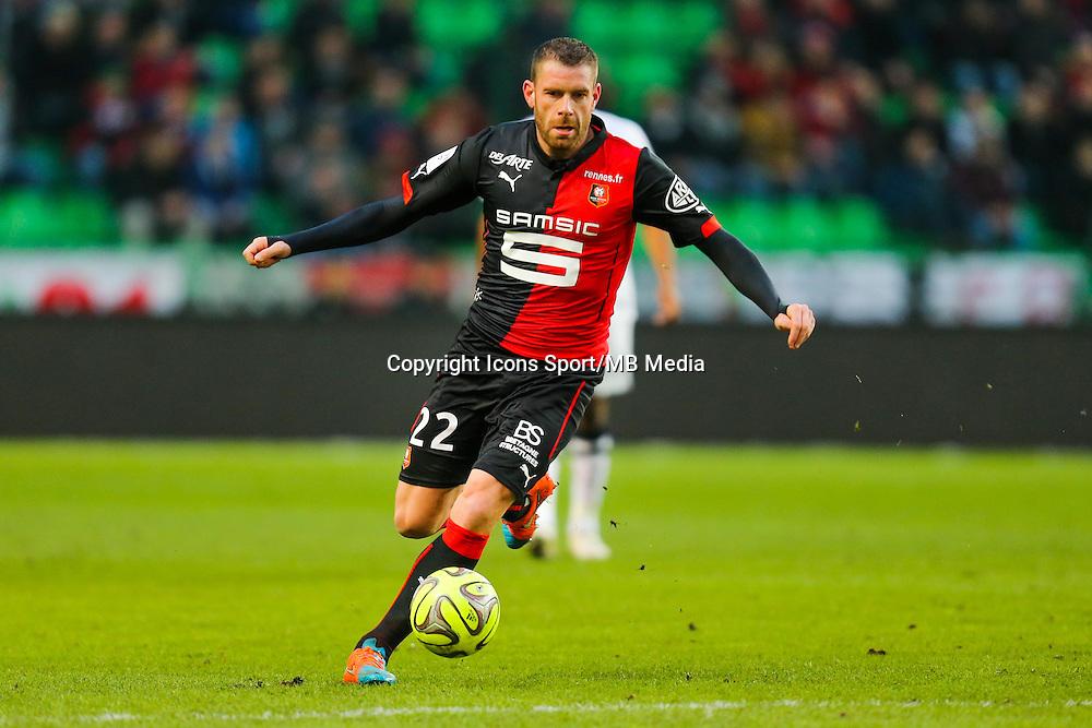 Sylvain ARMAND  - 25.01.2015 - Rennes / Caen  - 22eme journee de Ligue1<br /> Photo : Vincent Michel / Icon Sport *** Local Caption ***