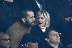 File photo - Actress Robin Wright and boyfriend Clement Giraudet watch the UEFA Champions League Round of 16 Second Leg Paris Saint-Germain (PSG) v Real Madrid match at Parc des Princes stadium on March 6, 2018 in Paris, France. Actress Robin Wright has reportedly married French fashion executive Clement Giraudet in a weekend ceremony. According to Vogue Paris, the Wonder Woman star became Mrs. Giraudet at an undisclosed location on Saturday. Photo by Laurent Zabulon/ABACAPRESS.COM