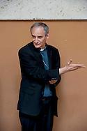Roma 24 Luglio 2012.Il saluto della Caritas a Don Angelo Bergamaschi.Il vicedirettore della Caritas romana lascia il lavoro dopo oltre 30 anni di servizio..Don Matteo Zuppi, vescovo ausiliare della diocesi di Roma..