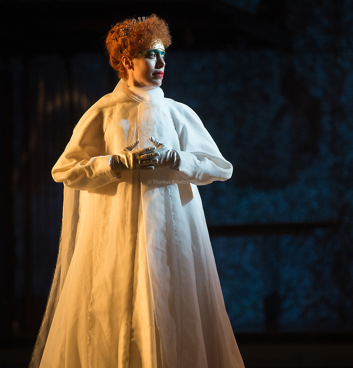STRICT EMBARGO on images until 19.30 4th March 2016<br /> <br /> Rebecca Borrone the Queen Tye.<br /> <br /> Akhnaten - Philip Glass performed by the English National Opera<br /> Conductor, Karen Kamensek<br /> Director, Phelim McDermott<br /> <br /> Opens 4th March 2016<br /> London Coliseum<br /> <br /> <br /> Philip McDermot Returns to the ENO to direct a once in a generation staging of Philip Glass's iconic opera.