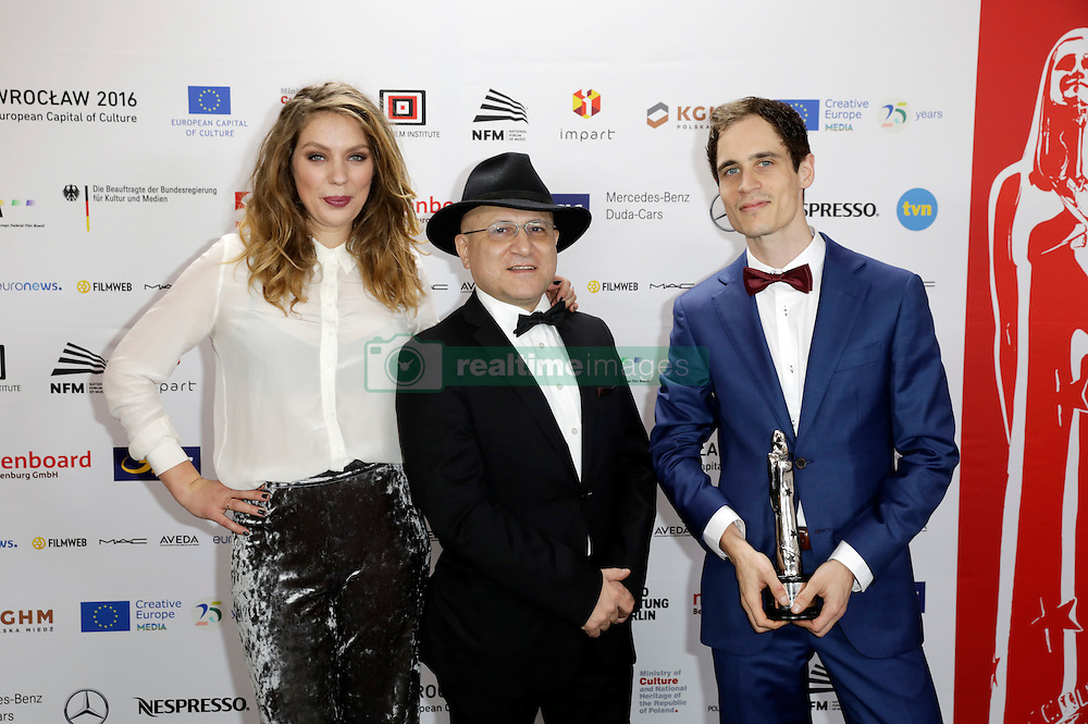 December 10, 2016 - Wroclaw, Lower Silesian, Deutschland - Floor van der Meulen, Issa Touma and Thomas Vroege attend the 29th European Film Awards 2016 at the National Forum of Music on December 10,2016 in Wroclaw, Poland. (Credit Image: © Future-Image via ZUMA Press)