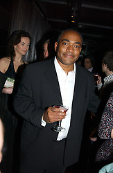 News reader DARREN JORDAN at an aftershow party following the opening of the play Whose Life is it Anyway held at Mint Leaf, Suffolk Place, London SW1 on 26th January 2005.<br />