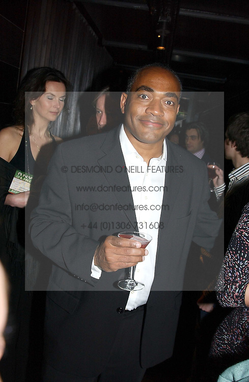 News reader DARREN JORDAN at an aftershow party following the opening of the play Whose Life is it Anyway held at Mint Leaf, Suffolk Place, London SW1 on 26th January 2005.<br /><br />NON EXCLUSIVE - WORLD RIGHTS
