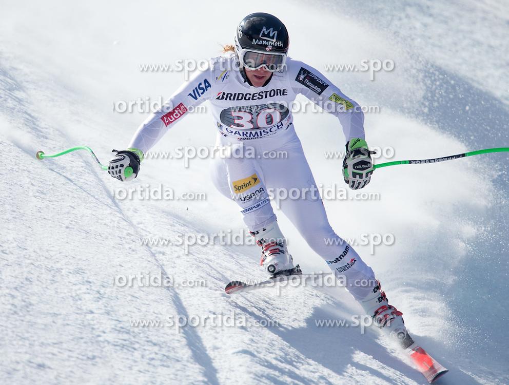 06.03.2015, Kandahar, Garmisch Partenkirchen, GER, FIS Weltcup Ski Alpin, Abfahrt, Damen, 1. Trainingslauf, im Bild Stacey Cook (USA) // Stacey Cook of the United States during 1st training run for the ladie's Downhill of the FIS Ski Alpine World Cup at the Kandahar course, Garmisch Partenkirchen, Germany on 2015/03/06. EXPA Pictures © 2015, PhotoCredit: EXPA/ Johann Groder