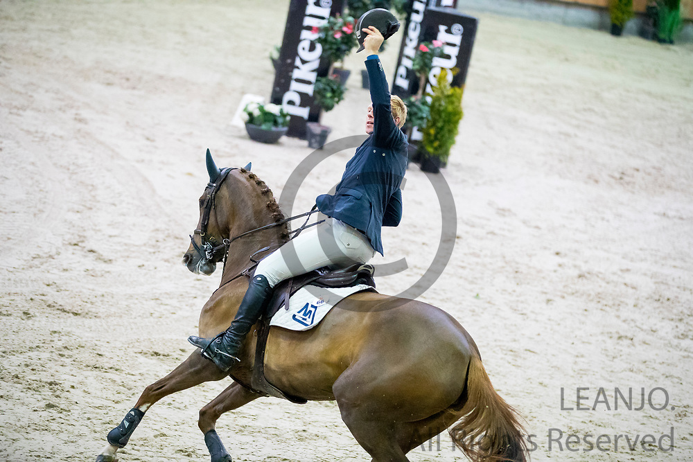 Lennard de Boer - Falanita<br /> KNHS Indoorkampioenschappen 2018<br /> © DigiShots