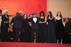 Antoine Sire, Claude Lelouch, Anouk Aimee, Jean-Louis Trintignant, Marianne Denicourt, Monica Bellucci and Tess Lauvergne attending the Les Plus Belles Annees d'une vie Premiere as part of the 72nd Cannes Film Festival, on May 18, 2019 in Cannes, France. Photo by Jerome Domine/ABACAPRESS.COM