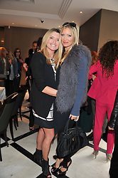Left to right, TINA HOBLEY and CAPRICE BOURRET at a lunch to launch Cash & Rocket on Tour 2013 hosted by Julia Brangstrup in aid of Orpan Aid and Shine on Sierrra Leone held at Banca, 40 North Audley Street, London on 29th April 2013.