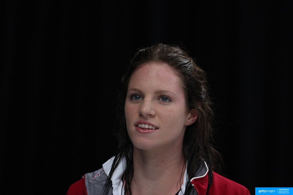 Emily Seebohm winner of the Women's 100m backstroke during the Australian Swimming Championships and Selection Trials for the XIII Fina World Championships held at Sydney Olympic Park Aquatic Centre, Sydney, Australia on March 19, 2009. Photo Tim Clayton