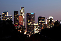 Downtown L.A. Skyline View from Elysian Park, Los Angeles, California