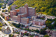 Aerial view of Hopital General De Montreal, Downtown Montreal