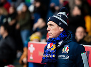 An Italy fan waits for kick off<br /> <br /> Photographer Simon King/Replay Images<br /> <br /> Six Nations Round 1 - Wales Women v Italy Women - Saturday 2nd February 2020 - Cardiff Arms Park - Cardiff<br /> <br /> World Copyright © Replay Images . All rights reserved. info@replayimages.co.uk - http://replayimages.co.uk