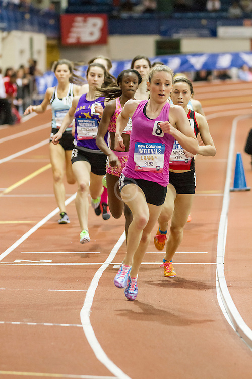 Girl's Championship 800 meters, heat 2, won by Elise Cranny in 2:06.47