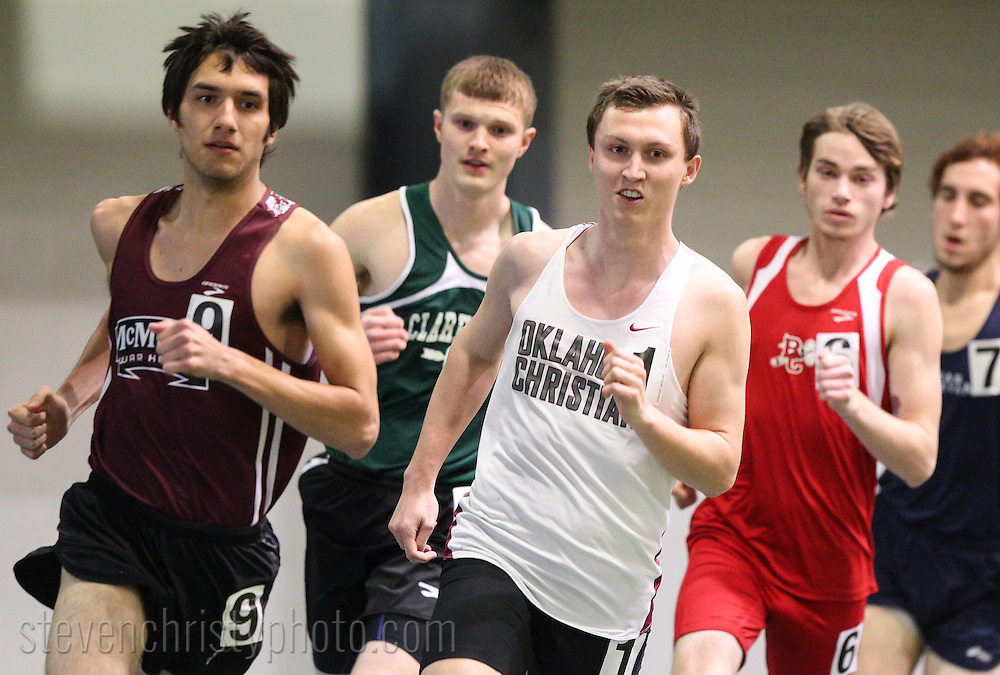 January 24, 2015: The Oklahoma Christian University Eagles participate in the UCO Indoor Open at the Mosier Indoor Facility on the campus of the University of Oklahoma.