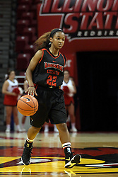23Oct2015: Shakeela Fowler(22). Illinois State Redbirds Hoopfest is an annual pre-season event to introduce the basketball team to the fans.