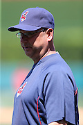ANAHEIM, CA - APRIL 30:  Manager Terry Francona #17 of the Cleveland Indians looks on during batting practice before the game against the Los Angeles Angels of Anaheim at Angel Stadium on Wednesday, April 30, 2014 in Anaheim, California. The Angels won the game 7-1. (Photo by Paul Spinelli/MLB Photos via Getty Images) *** Local Caption *** Terry Francona