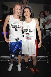 Left to right, BRONWEN FOSTER-BUTLER and ALOTTA NEWBURY at the weigh-in party for the Boodles Boxing Ball held at Kitts 7-12 Sloane Square, London on 29th May 2008.<br /> <br /> NON EXCLUSIVE - WORLD RIGHTS