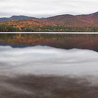 10 image panorama view of fall foliage on Mount Chocorua, New Hampshire