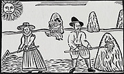 Haymaking.  Early 17th ewntury woodcut.