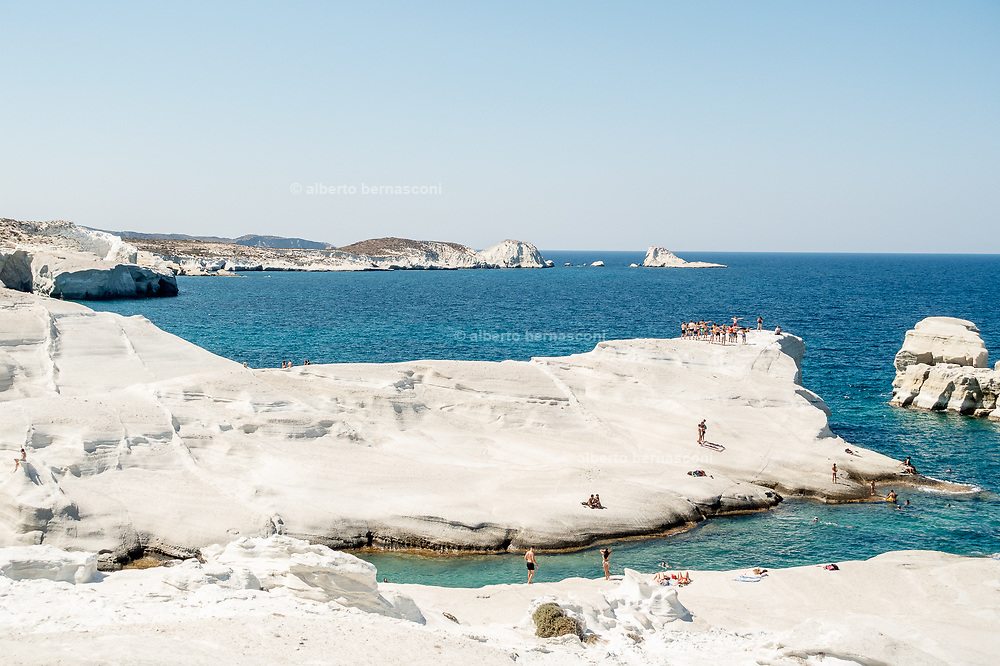 Greece, Kyklades, Milos, Sarakiniko beach