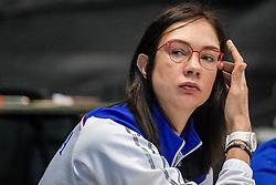 01-04-2017 NED:  CEV U18 Europees Kampioenschap vrouwen dag 1, Arnhem<br /> Rusland - Italie 0-3 / Yekaterina Gamova in het begeleidingsteam van Rusland