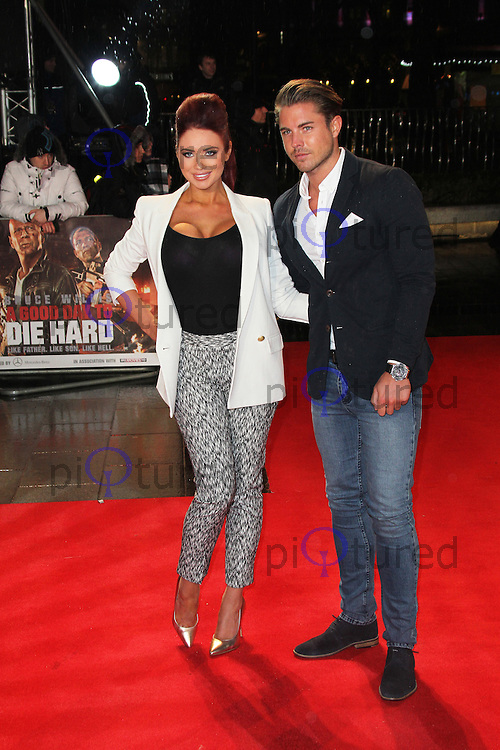 Amy Childs; David Peters, A Good Day To Die Hard - UK Film Premiere, Empire Cinema Leicester Square, London UK, 07 February 2013, (Photo by Richard Goldschmidt)