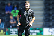 Forest Green Rovers manager, Mark Cooper during the EFL Sky Bet League 2 match between Forest Green Rovers and Grimsby Town FC at the New Lawn, Forest Green, United Kingdom on 17 August 2019.