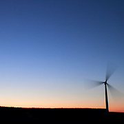 Carcant Windfarm in the Scottish Borders, taken mid summer at Sunrise - owned at run by Scottish Southern Electric.