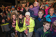 DOYLESTOWN, PA -  NOVEMBER 29: Children await the arrival of Santa Claus at the lighting of the Doylestown Christmas Tree November 29, 2013 in Doylestown, Pennsylvania. (Photo by William Thomas Cain/Cain Images)