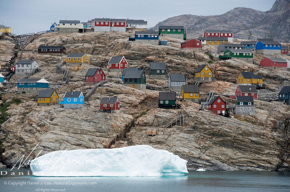 The small fishing village called Uummannaq, Greenland.