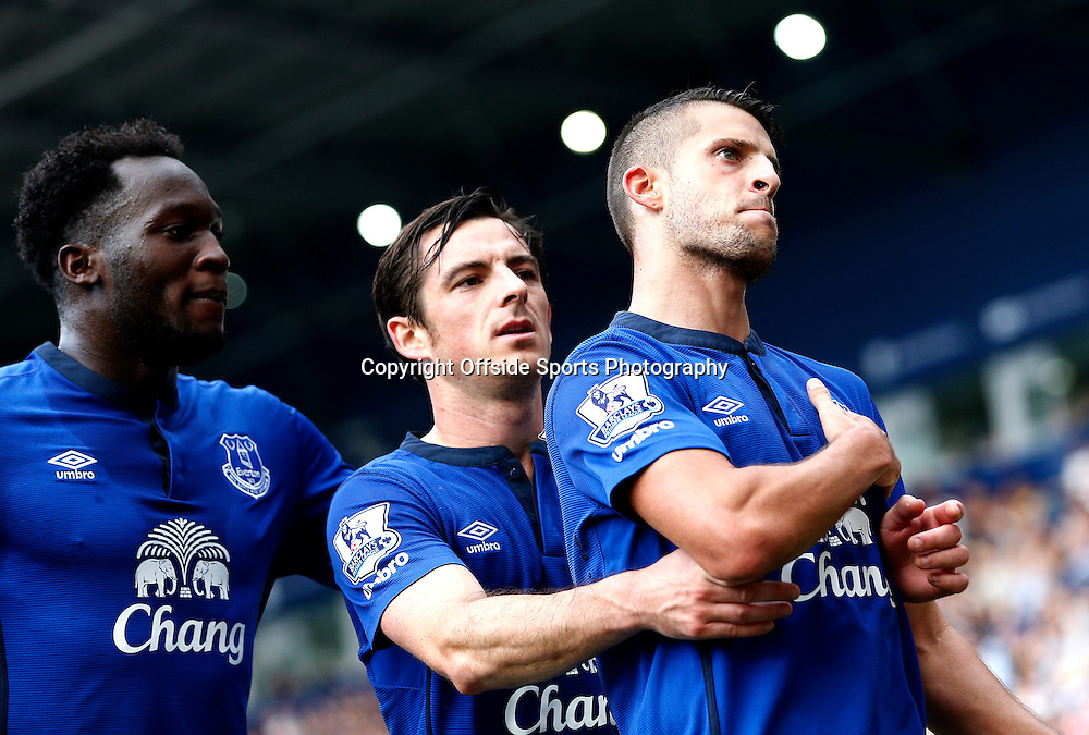 13th September 2014 - Barclays Premier League - West Bromwich Albion v Everton - Kevin Mirallas of Everton celebrates his goal (0-2) - Photo: Paul Roberts / Offside.