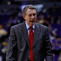 November 30, 2010; Baton Rouge, LA, USA; Houston Cougars head coach James Dickey during the first half against the LSU Tigers at the Pete Maravich Assembly Center.  Mandatory Credit: Derick E. Hingle