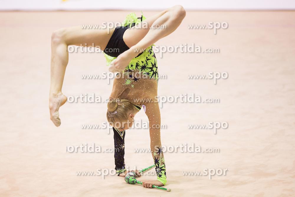 Kseniya Moustafaeva of France competes during 27th MTM - International tournament in rhythmic gymnastics Ljubljana, on April 19, 2014 in Arena Krim, Ljubljana, Slovenia. Photo by Vid Ponikvar / Sportida