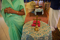 Inde, Etat du Kerala, Thrissur, messe dans une eglise chaldeenne // India, Kerala state, Thrissur, mass at the Chaldean catholic church