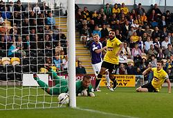 Oxford United's Alfie Potter scores the first goal  - Photo mandatory by-line: Matt Bunn/JMP - Tel: Mobile: 07966 386802 07/09/2013 - SPORT - FOOTBALL -  Pirelli Stadium - Burton upon Trent - Burton Albion V Oxford United - Sky Bet League Two