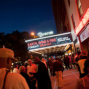 September 25, 2013 - New York, NY: People gather outside the Beacon Theatre in Manhattan prior to Wednesday night's sold-out Earth, Wind & Fire concert.<br /> CREDIT: Karsten Moran for The New York Times